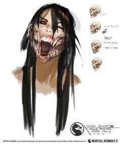 MKX Mileena mouth anatomy by Raggedy-Annedroid.deviantart.com on @DeviantArt