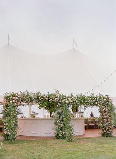 Floral arch entrance to sailcloth tent for fine art wedding reception on Bainbridge Island with Gather Design Company & Callista & Co Tent Wedding, Marquee Wedding, Wedding Receptions, Dream Wedding, Wedding Aisles, Wedding Backdrops, Wedding Ceremonies, Ceremony Backdrop, Wedding Set