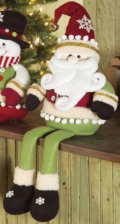 Easy Christmas Ornaments, Christmas Clay, Felt Christmas Decorations, Christmas Centerpieces, Christmas Snowman, Simple Christmas, Christmas Stockings, Christmas Holidays, Natal Diy
