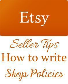 How to write Etsy Sh