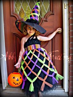 Bewitching Costume criss cross witch tutu by abbystutufactory