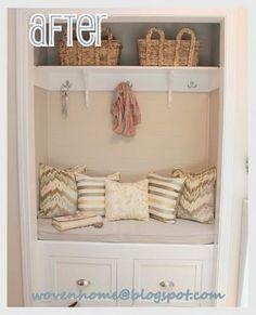 Transform your closet with a {DIY Entry Bench!}