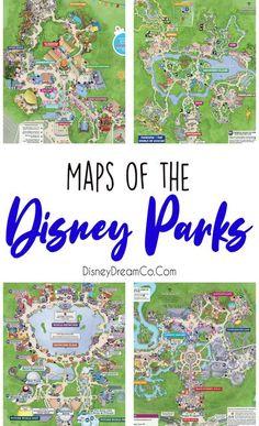 Disney Park Maps, Disney Map, Disney World Map, Disney World Vacation Planning, Disneyland Vacation, Walt Disney World Vacations, Disney Planning, Disney Trips, Disneyland Food