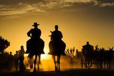 SPAIN / ANDALUSIA / Festivities - Pilgrimage to El Rocío, Huelva , Spain. ,. La Romeria del Rocio by Willem Kuijpers