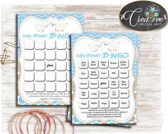 Little Lamb Baby Shower Boy 60 BINGO cards game blue and empty gift BINGO sheep theme printable, digital Jpg Pdf, instant download - fa001 #babyshowerparty #babyshowerinvites