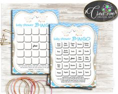 Little Lamb Baby Shower Boy 60 BINGO cards game blue and empty gift BINGO sheep theme printable, digital Jpg Pdf, instant download - fa001 #babyshowerparty #babyshowerinvites
