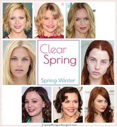 Clear Spring, Spring-Winter seasonal color celebrities by 30somethingurbangirl.com