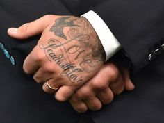 David Beckham's tattoos lead with love oh so sweet