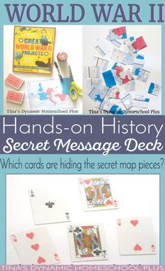 World War II Hands-On History - Make a Secret Message Deck. What a FUN way to kick off your homeschool unit study. Check it out
