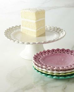 NM EXCLUSIVE Pierced Dessert Plates & Footed Cake Stand on Wanelo