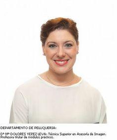 Mª Dolores Yépez. Departamento de Peluquería