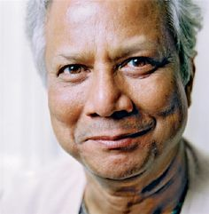 Muhammad Yunus inspired me to study business. His disruptive model showed me the clear connection between business/finance and social good. In 2010, I did an MBA internship in Dhaka Bangladesh at the Grameen Bank/Trust.