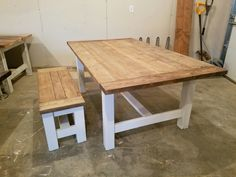 Husky Farmhouse Table Spindle Legs Xs Connecting The Legs - Farmhouse table with white base