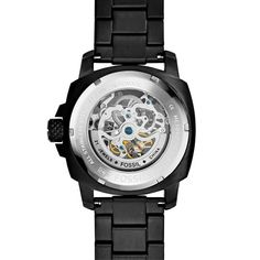 0f8df9f60f1 Modern Machine Automatic Black Stainless Steel Watch - Fossil Stainless  Steel Watch