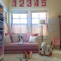 Colorado Farmhouse. Cozy playroom. Kathryn Ireland Moroccan Weave, Bainbridge Blues William,Bryn, Timothy. Pierre Frey La Bussiere.