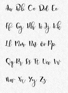 El Rincón Vintage de Karmela: Hoy vamos con 12 plantillas para practicar caligrafía y algo sobre lettering. lettering hand lettering calligraphy brush lettering tutorial art drawing handlettering леттеринг за 5 м Modern Calligraphy Alphabet, Calligraphy Fonts Alphabet, Script Alphabet, Handwriting Alphabet, Hand Lettering Alphabet, How To Write Calligraphy, Brush Lettering, Fancy Writing Alphabet, Font Styles Alphabet