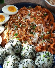 Tteokbokki Ramen and Rice Balls