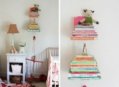 love these cheap and invisible book shelves