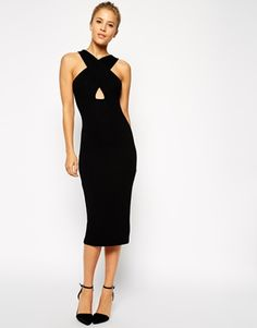 Sexy LBD, shows just enough skin, perfect midi length. From ASOS.