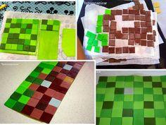 Minecraft Birthday Cake, Minecraft Cake, Pastel Minecraft, Fondant, Cakes For Boys, Themed Cakes, Party Cakes, Cake Designs, Picnic Blanket