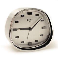 SWIZA Wecker / 1960s Space Design Vintage Alarm Clock / 8 / Swiss Made / Selten | http://www.cyan74.com