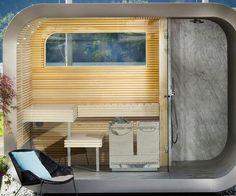 The Wellness Capsule Modular Outdoor Sauna Outdoor Sauna, Outdoor Theater, Surefire, Geek Gifts, Blinds, Shed, Relax, Theatre, Wellness