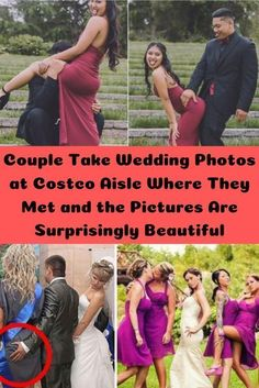 A couple who met in the mac 'n' cheese aisle in Costco have had their wedding photoshoot in the supermarket. And the pictures are surprisingly beautiful. Pictures Of The Week, Cool Pins, Funny Pins, Wedding Photoshoot, Costco, New Books, How To Make Money, Hilarious, Lol