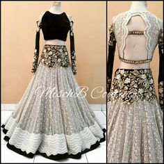 50 Shades of Grey, lehenga by MischB Couture