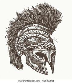 Imagini pentru spartan helmet side view vector