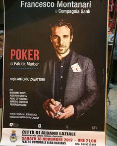 La stagione inizia così! #teatro #albaradians #albanolaziale #poker