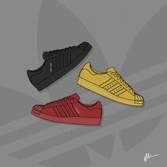 Check out These new Sneaker Illustrations by Dan Freebairn of KickPosters