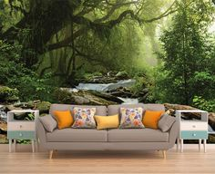 Tree Wall Covering Forest Wall Covering Tree by PhotoDecorByDani