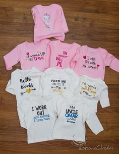 FREE SVG onesie baby-grow sayings vinyl baby shower gift Awesome SVGs: Onesies and Some Other Tiny Clothes.