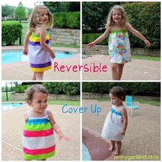 DIY Girls Clothes : DIY Sew Reversible Swim Cover Up