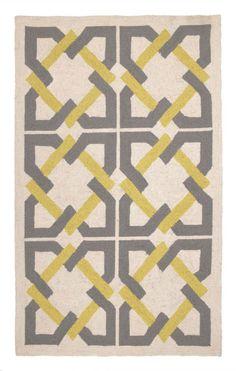 Peking Handicraft, Inc. Trina Turk Geometric Tile Grey Rug