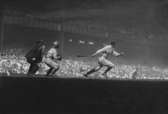 Baseball History Comes Alive website - Yankee Stadium, Bronx, NY, September 9, 1928 – Yankees Earle Combs leads off with base hit against the Philadelphia A's in key game in AL pennant race