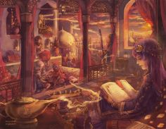 The Book of the Tale of a Thousand Nights by ~Reluin on deviantART