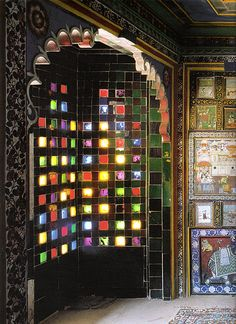 Such a beautiful use of colored glass panes.  This gives new meaning to my concept of a window.