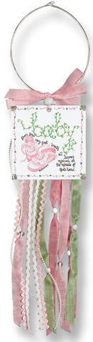 Baby Girl Doorknob Blessing Card Holder or baby sleeping sign for front door!