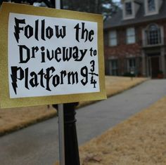 Harry Potter Party Driveway Sign