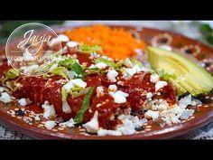 Enchiladas Rojas de Queso. El Secreto Está en la Salsa - YouTube