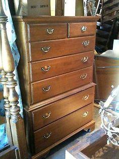 Bedroom Furniture Ethan Allen vintage ethan allen baumritter wood wooden kneescrantonattic
