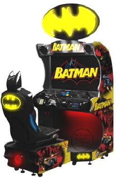 Batman Arcade    Video Arcade Racing Game    From Raw Thrills      Get more information about this game at: http://www.bmigaming.com/games-catalog-rawthrills.htm