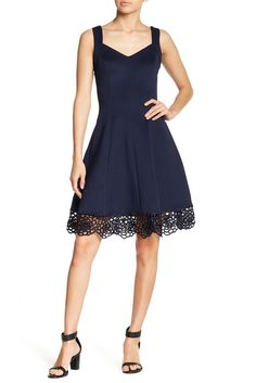 Image of Donna Ricco Sweetheart Neck Scuba Dress