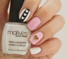 70 Fotos de uñas decoradas con corazones – Heart nail art | Decoración de Uñas - Manicura y Nail Art - Part 4