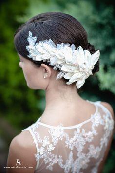 lace, burlap, wedding, bride, groom, rustic, headpice, white