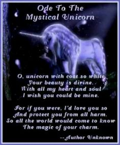 """Ode To The Mystical Unicorn"" unicorns fantasy for mom"
