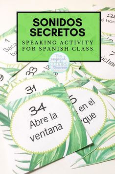 #SonidosSecretos is not your traditional speaking activity for Spanish class! Get your elementary school, middle school, and high school Spanish students engaged and speaking in the target language! They will have a lot of fun with this speaking game, and so will you. Click here to learn how to play with your students! #teachmorespanish #iteachspanish #iteachtoo #theengagedspanishclassroom Study Spanish, Spanish Lessons, How To Speak Spanish, Spanish 1, French Lessons, Teaching French, Teaching Spanish, Spanish Classroom, Spanish Activities