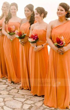 Different Style Bridesmaid Dress,Chiffon Bridesmaid Bridesmaid Dresses orange bridesmaid dresses Orange Bridesmaid Dresses, Wedding Bridesmaids, Wedding Dresses, Wedding Mandap, Wedding Receptions, Boho Wedding, Orange Wedding Themes, Orange Weddings, Wedding Orange