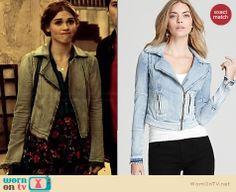 Lydia's denim jacket  on Teen Wolf.  Outfit Details: http://wornontv.net/33995/ #TeenWolf